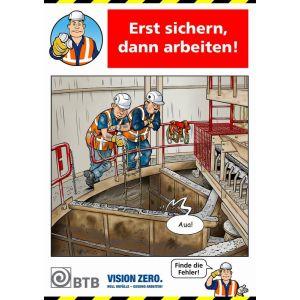 Poster Erst sichern, dann arbeiten!
