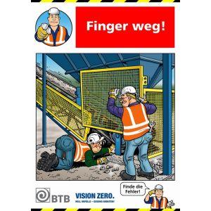 Poster Finger weg!