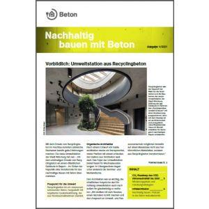 Newsletter Nachhaltig bauen mit Beton 15