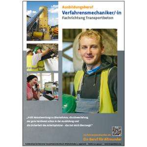 DIN-A1-Poster Verfahrensmechaniker Transportbeton