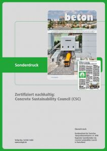 Concrete Sustainability Council (CSC)