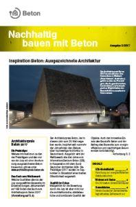 Newsletter Nachhaltig bauen mit Beton 9