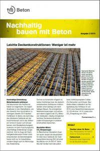 Newsletter Nachhaltig bauen mit Beton 13