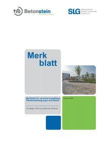 Merkblatt für versickerungsfähige Pflasterbefestigungen aus Beton