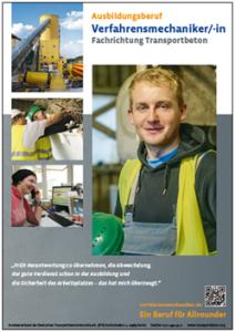 DIN-A2-Poster Verfahrensmechaniker Transportbeton