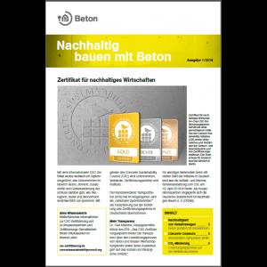 Newsletter Nachhaltig bauen mit Beton 10