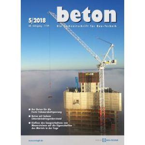 Zeitschrift beton - kostenloses Leseexemplar