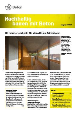 Newsletter Nachhaltig bauen mit Beton 8