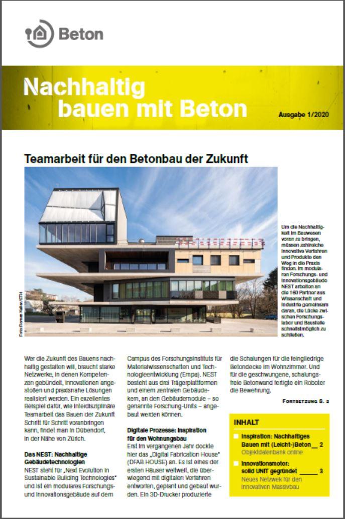 Newsletter Nachhaltig bauen mit Beton 14