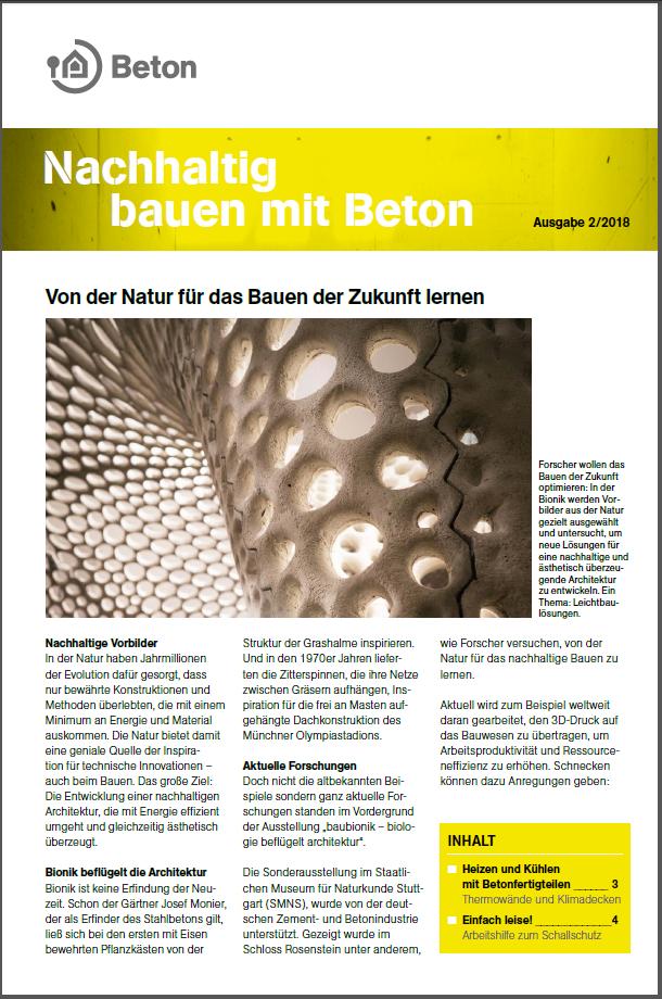 Newsletter Nachhaltig bauen mit Beton 11